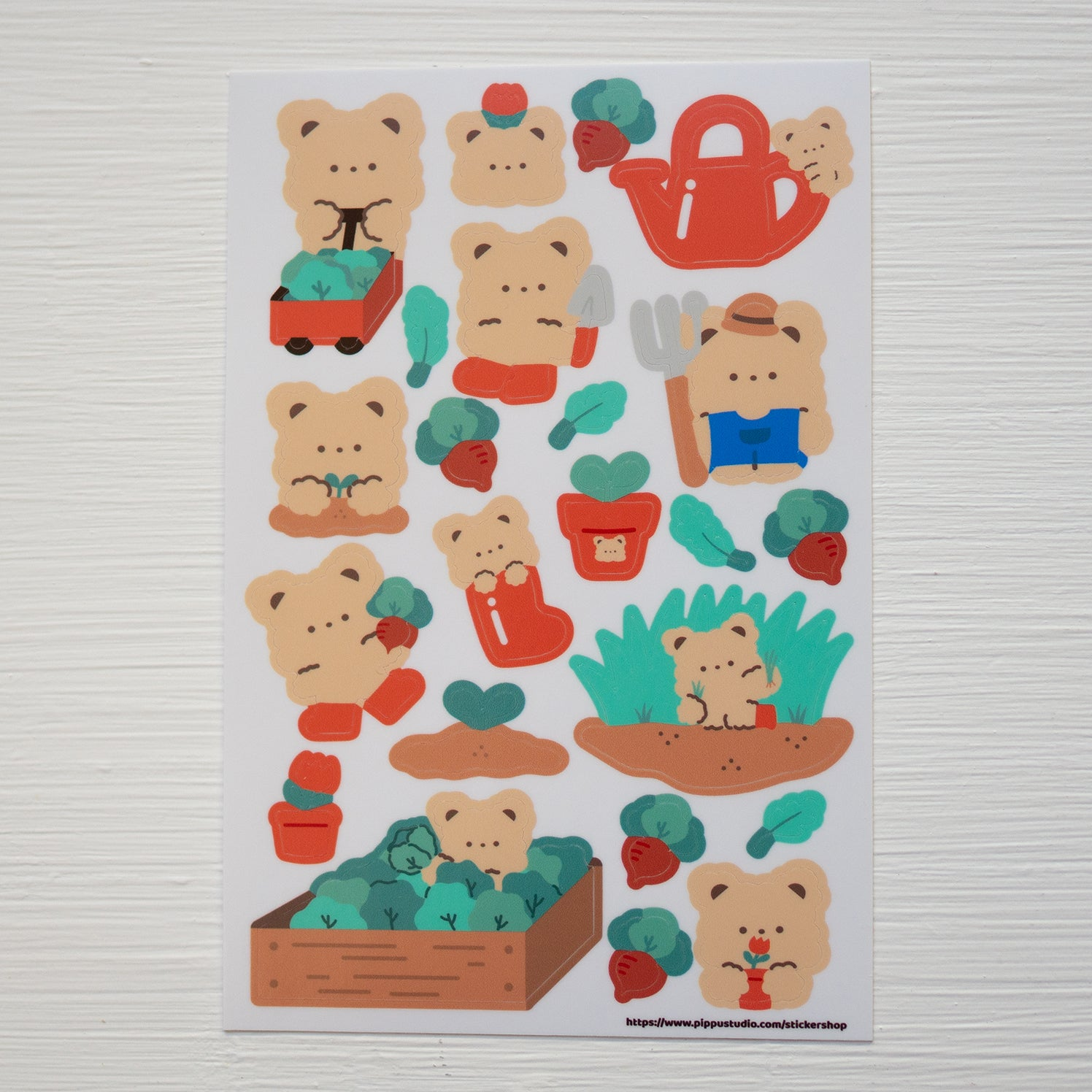 A86-Gardening sticker sheet
