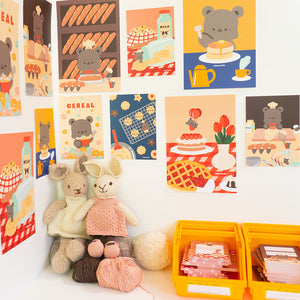 Baking print: bear bakery collection