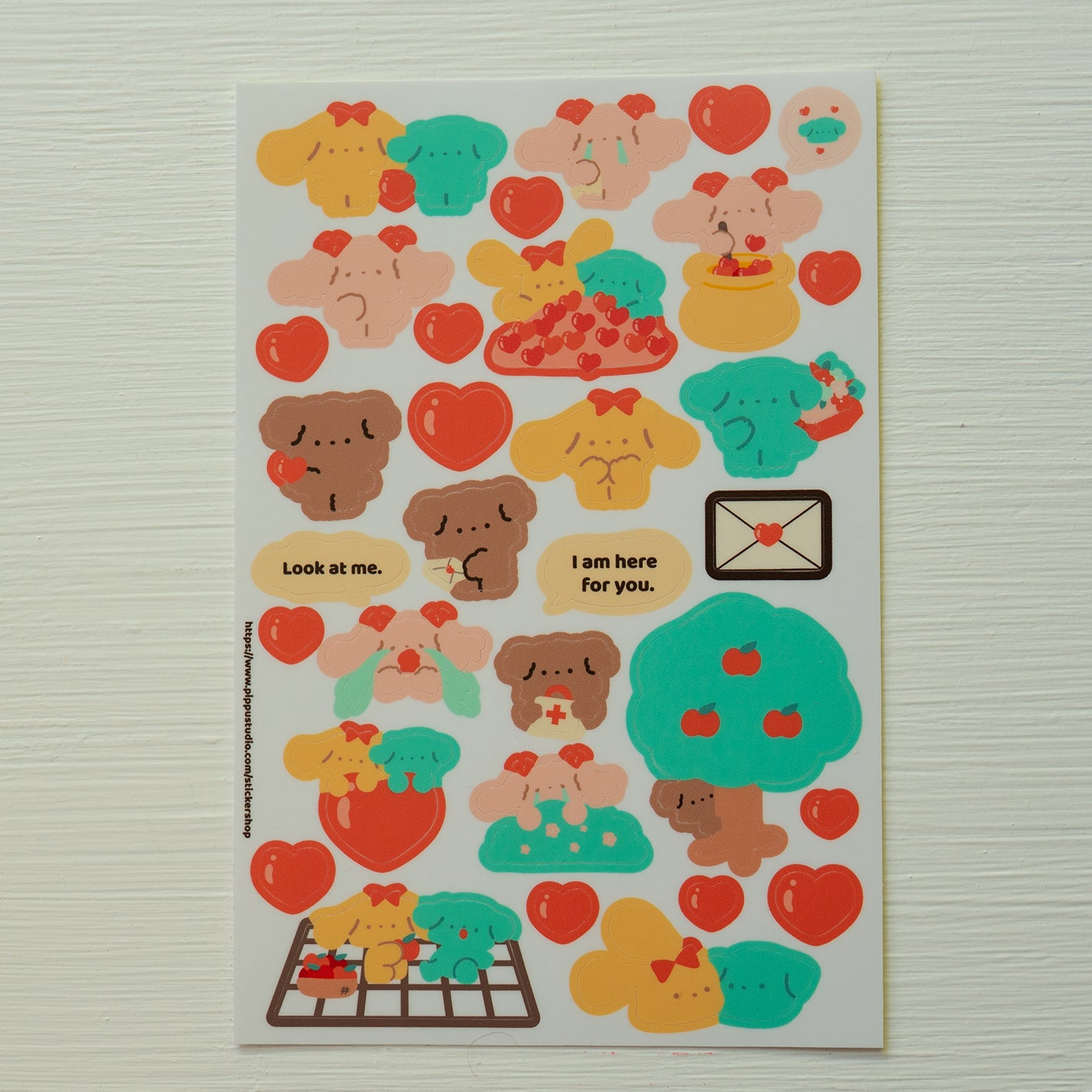 A77-Puppy love sticker sheet