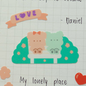 A75-Romantic garden sticker sheet