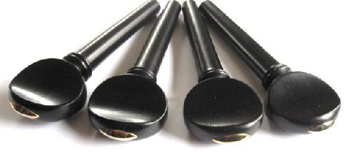 Cello pegs-French-Ebony-Gold Olive