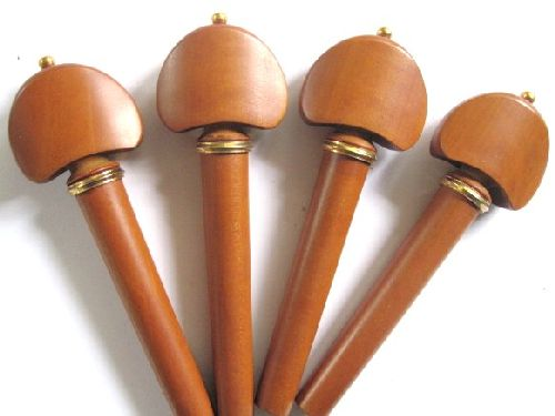 cello pegs-Hill-Boxwood-Gold