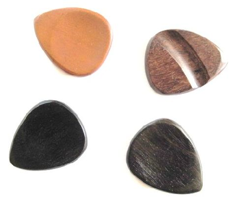 Guitar picks-assorted woods