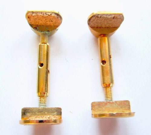 Violin chinrest- brackets-Hill gold