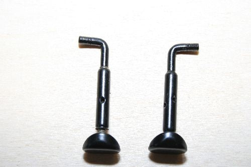Violin chinrest brackets-Semi Hill-Black- Alloy