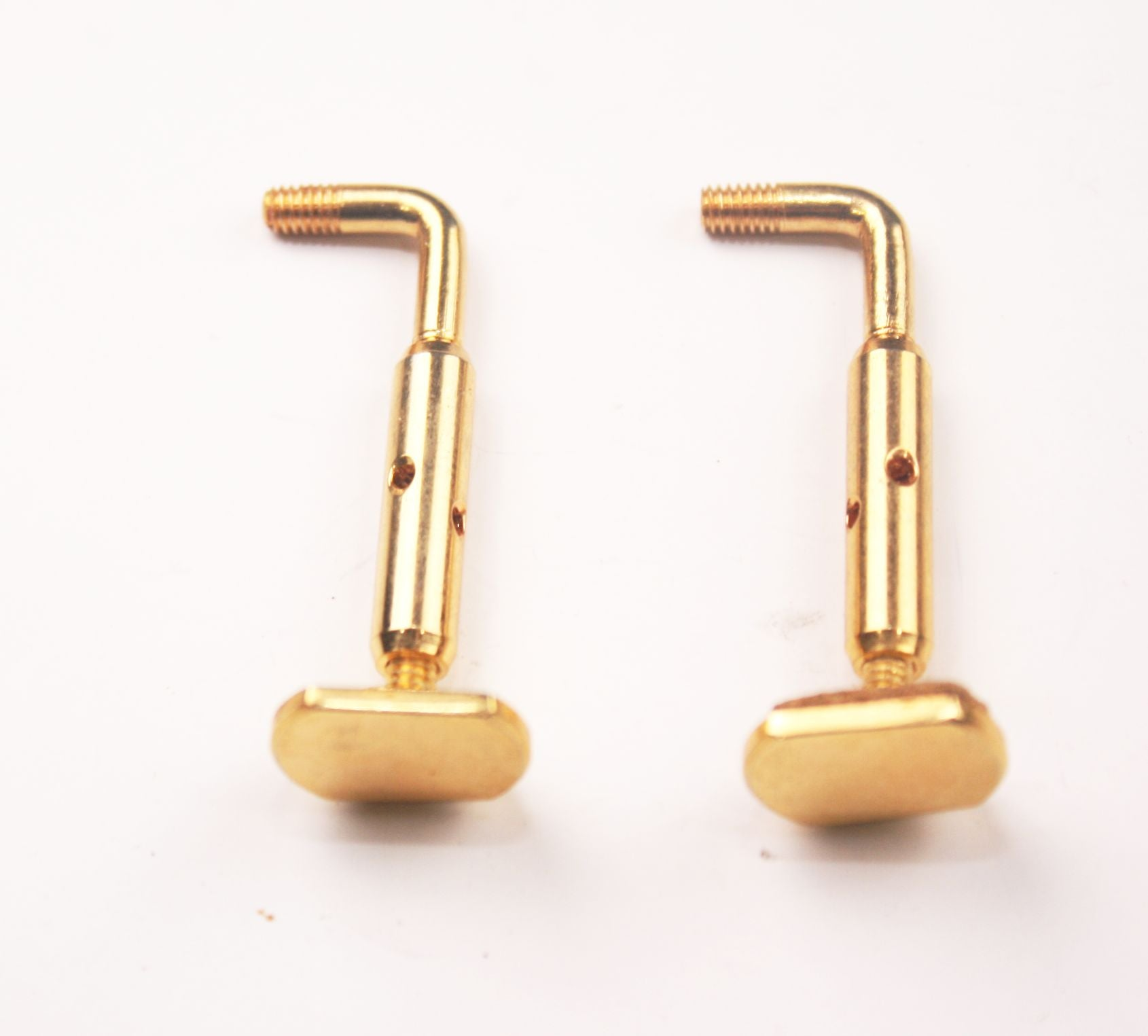 Viola chinrest brackets-semi hill gold