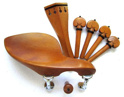 Violin fitting set- Boxwood-heart-ebony