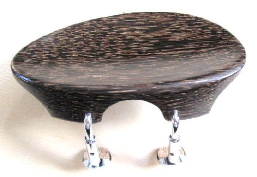 Viola chinrest- Flat Flesch-Tigerwood-Semi Hill chrome