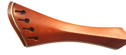 "Violin tailpiece-""Schmidt harp-style""-boxwood-gold saddle"