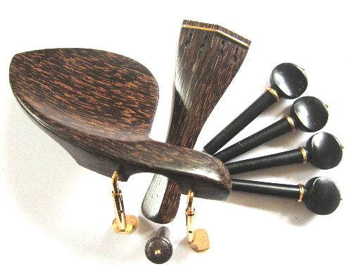 "Viola fitting set-""Tigerwood""-gold trimme"