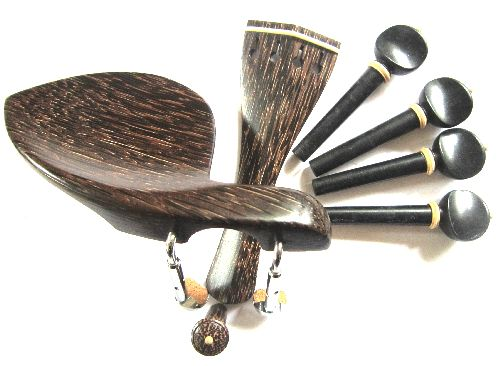 "Viola fitting set-""Tigerwood""-Bone trimmed"