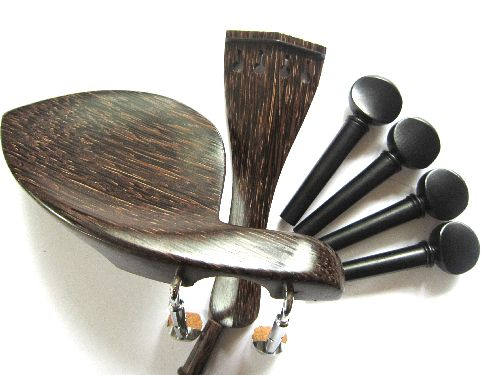 "Viola fitting set-""Tigerwood""-Ebony trimmed"