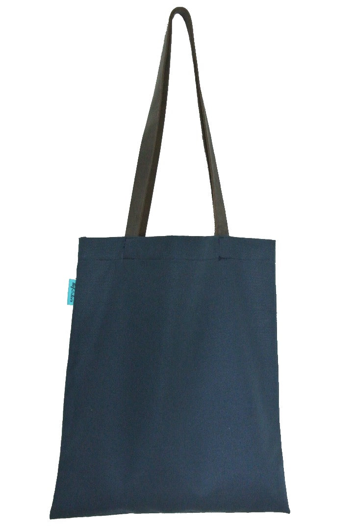 Shopper canvas blauw