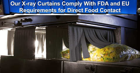 Our X-ray Curtains Comply with FDA and EU Food-Contact Requirements