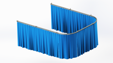 X-Ray Curtains like these can be hung from the ceiling in any configuration and length to properly shield windows, doors and openings for protection from radiation exposure during medical imaging.