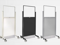 Mobile barriers are versatile, portable and available with and without leaded glass windows