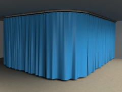 X-ray curtains are compact and provide comprehensive protection from radiation scatter