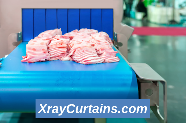 Food Contact X-Ray Curtains for Raw Meat