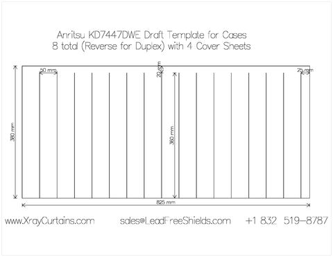 Anritsu Wide Format Xray Curtains Protective Sheet for KD7447DWE (Set of 4)