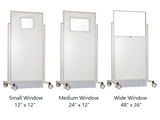 52 inch mobile lead barrier window size options