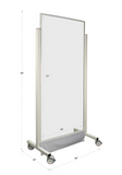 "Mobile Lead Barrier - 40"" Wide - X-Large Window Dimensions"