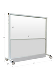 "Mobile Lead Barrier - 76"" Wide - Large Window Dimensions"