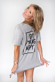 Get F*cking Happy Shirt V-Neck!
