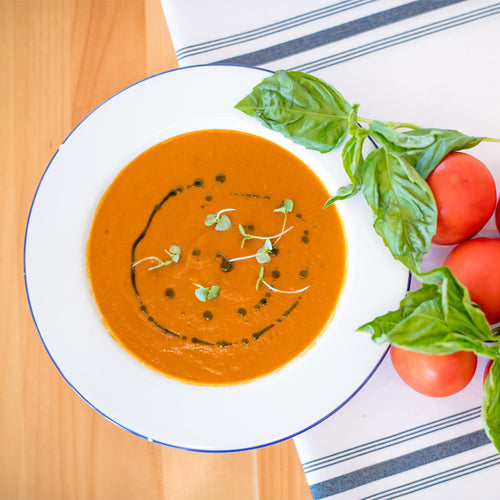 Tomato Basil & Stilton Cheese Soup