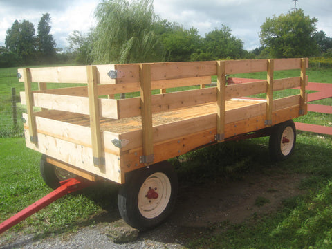 Restoration complete. The new farm wagon is ready to roll.