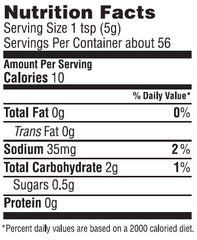 Vermont Maple Country Mustard Nutrition Facts