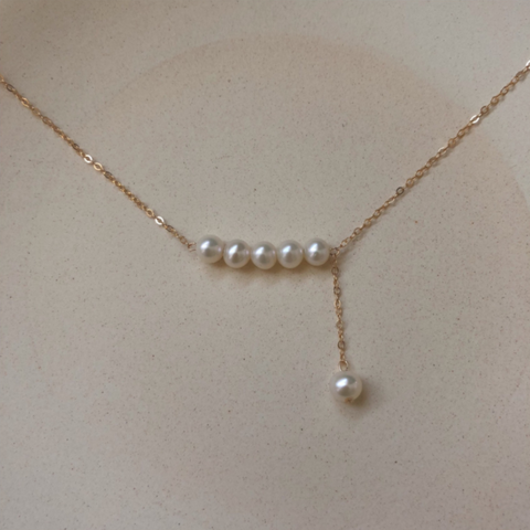 Luxury Mini Pearls Chokers Necklace Gold Plated
