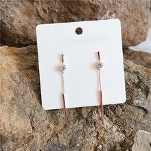 Load image into Gallery viewer, Long Diamante Chain Tassel Earrings