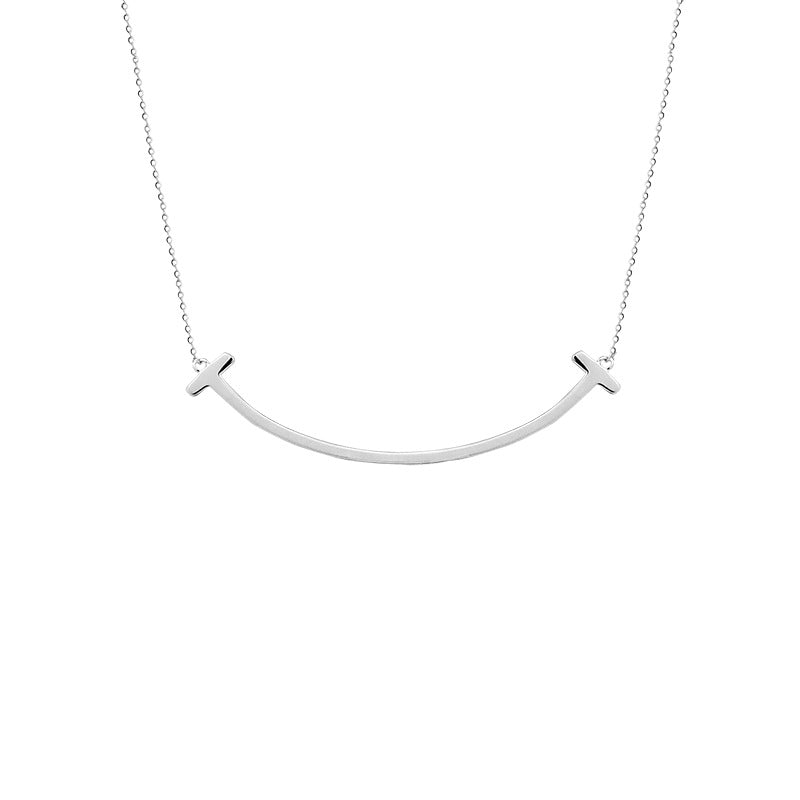 Smile Chain Silver Plated Necklace