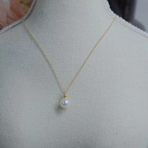 Fresh Water Pearl Pendant in 14K Gold Plated Silver Necklace