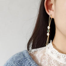 Load image into Gallery viewer, Gold Plated Tassel Shell Earrings