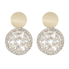 Load image into Gallery viewer, Luxury 14K Gold Plated Zircon Diamante Round Chic Drop Earrings
