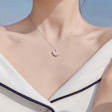Load image into Gallery viewer, Moon Shape Crystal Necklace