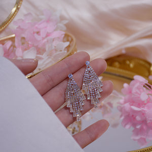 Popular Party Diamante Zircon Diamond Shape Tassel Chandelier