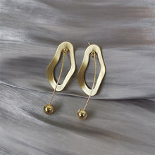 Load image into Gallery viewer, Gold Plated Irregular Shape with Mini Balls Drop Earrings