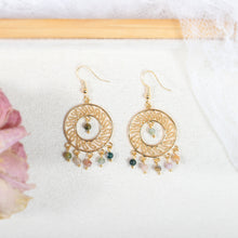 Load image into Gallery viewer, Ethnic Styled Dangle Earrings in 18K Gold Plated Copper - Circle