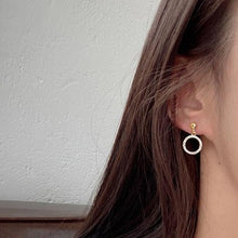 Load image into Gallery viewer, Diamante Circle Drop Earrings