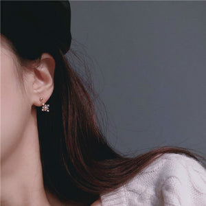 Snow Shape Gold Plated Stud Earrings