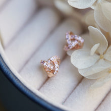 Load image into Gallery viewer, Diamante Triangle Stud Earrings