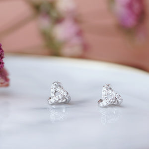Diamante Triangle Stud Earrings