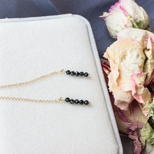 Load image into Gallery viewer, Black Crystal Drop Earrings