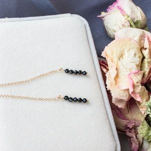 Black Crystal Drop Earrings