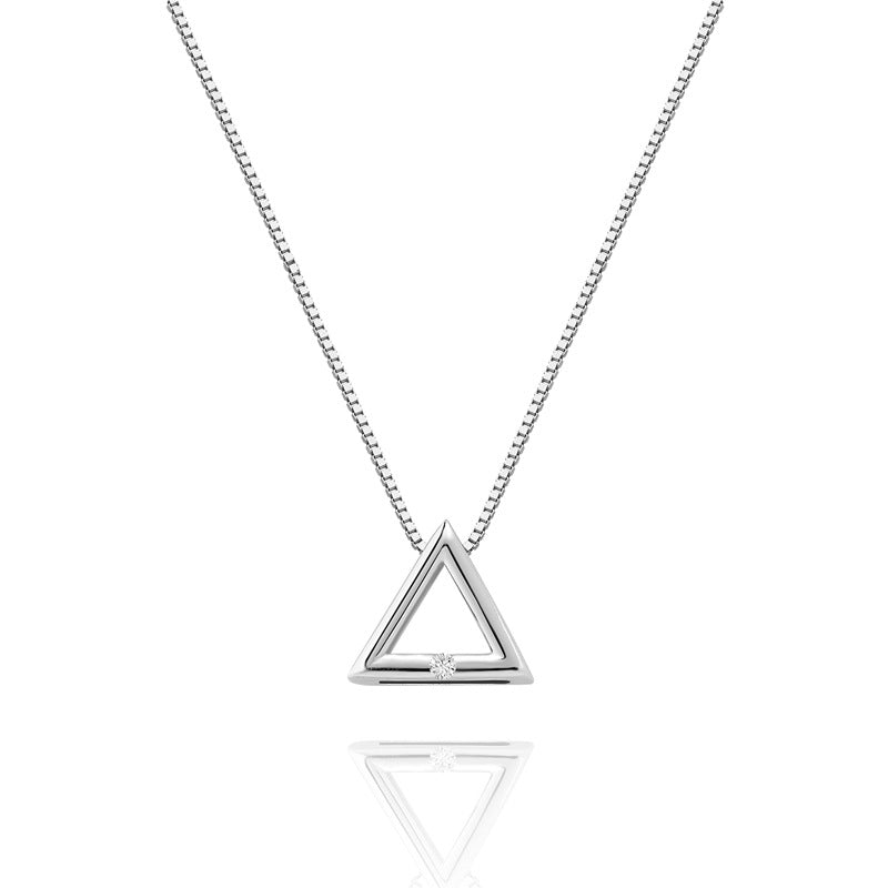 S925 Triangle Chain Necklace Choker