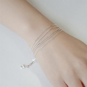 5 Layer Gold Plated Silver Chain Bracelet
