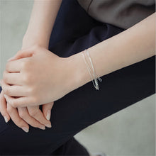 Load image into Gallery viewer, 5 Layer Gold Plated Silver Chain Bracelet