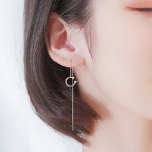 Load image into Gallery viewer, Clip Thread Through C Shape Chain Single Earring